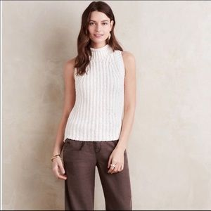 Anthropologie Moth Roll Neck Knit Sweater Tank